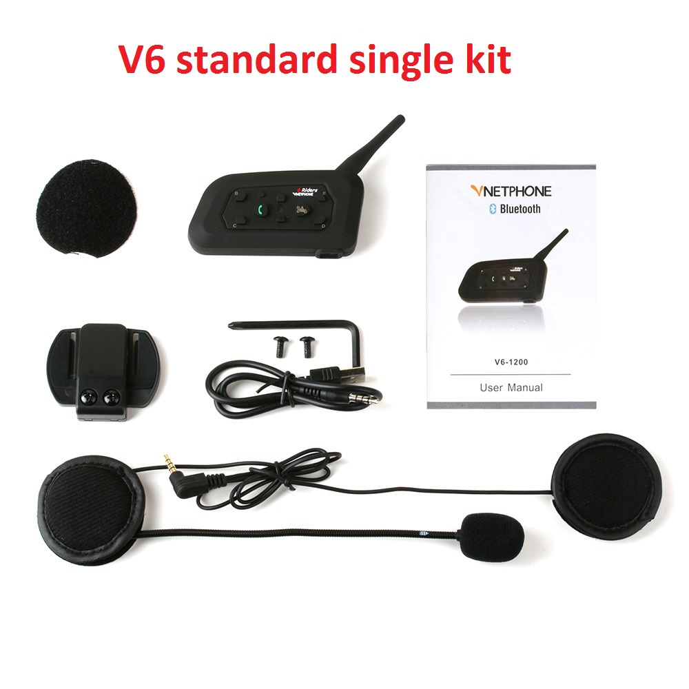 Vnetphone V6 Bt Interphone Bluetooth Motorcycle Helmet Intercom For 6 Riders Afzal Traders
